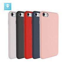 Fshang для iPhone 7 чехол оригинальный кожи жидкий силикон для iPhone 7 Plus Роскошный чехол Коке черный, розовый Телефонные чехлы