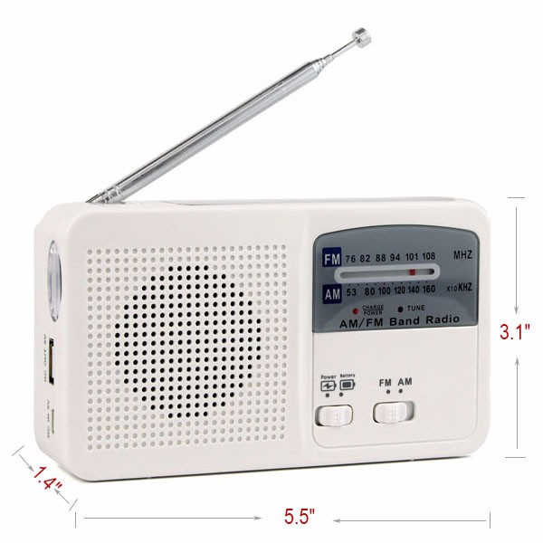 Hot Sale FMAM Radio Solar Flashlight (4)