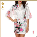2016 Silk Bathrobe Women Satin Kimono Robes For Women Floral Robes Bridesmaids Long Kimono Robe Bride Silk Robe Dressing Gown