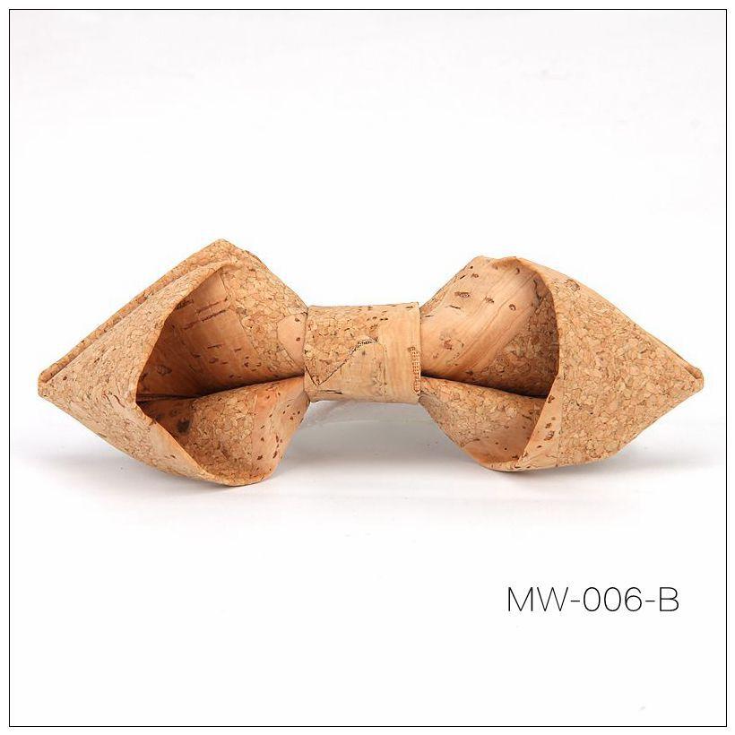 New Handmade Wooden Cork Bamboo Bow Tie Bowtie Men's Cravat 80