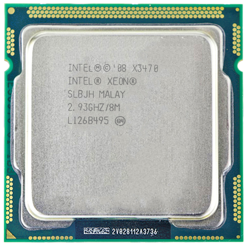 Intel Core Xeon X3470 8M Cache 2 93 GHz Torbu Frequency 3 6 LGA1156 P55 H55