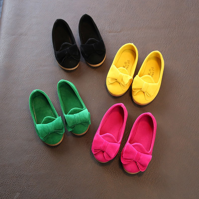 2018 Summer Classic Candy Colors Girls Small Classic Shoes Cute Girl Big Bow Princess Fi ...