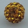 100 pcs/lot колорадо / золото глина шамбалы бусины вымощает горный хрусталь диско 10 мм бусины 62 кристаллы за бусины