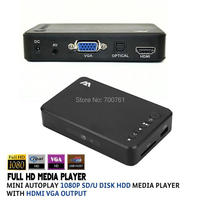 Full HD 1080P HDD Media Player USB External VGA SD Multimedia Player Support MKV H 264