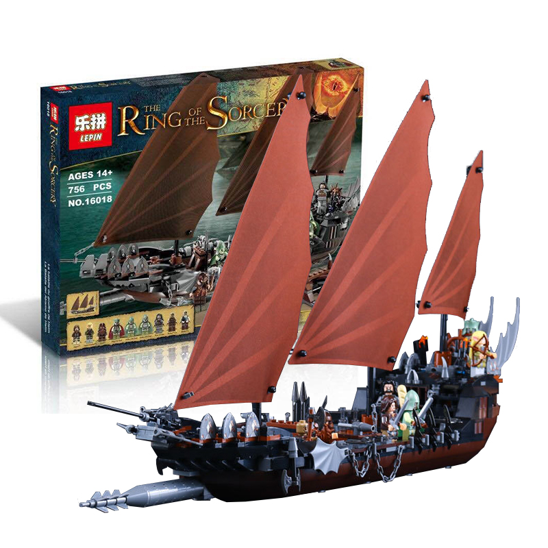 Pirate Ship Ambush The Lord of the Rings 756pcs Building Blocks Bricks Set Toy Gift Children Lepin 79008 susengo pirate model toy pirate ship 857pcs building block large vessels figures kids children gift compatible with lepin