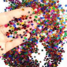CRLEY 2000pcs 2.5mm Glitter Acrylic Star Christmas Metallic Foil Sequin Confetti Wedding Party Decoration Sprinkles Decor