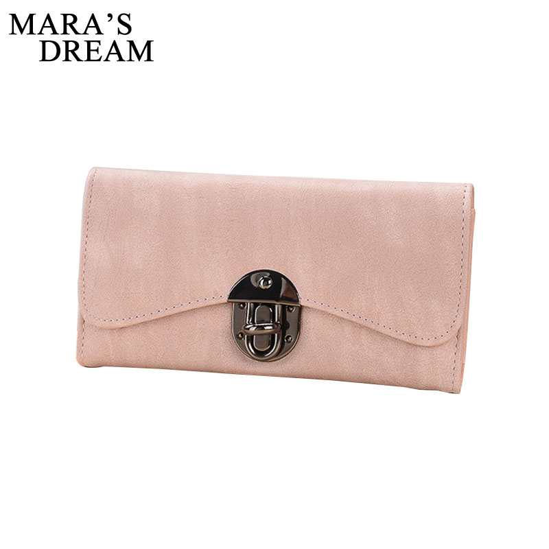 Mara's Dream New Fashion Women Wallet Brand Long Design Women Wallets PU Leather High Quality Female Purse Clutch Bag 8 Color yuanyu 2018 new hot free shipping real python leather women clutch women hand caught bag women bag long snake women day clutches