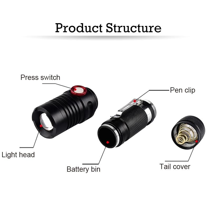 Светодиодный тактический фонарь ярких ручной фонари Масштабируемые светодиодный фонарик 5000 люмен ручной вспышки света в чрезвычайных