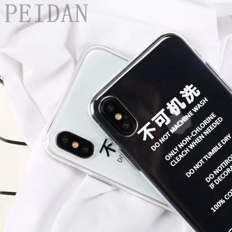 Spoof tag Pattern Cover Phone Case For Iphone 7 7Plus 8 6 s X No Machine washable/No Hand wash Soft Transparent Cover Casing