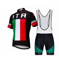 Italy 2019 Bike Jersey Set Men's cycling jersey bib shorts MTB top Mountian Road Bicycle shirts suit Ropa Ciclismo Green black