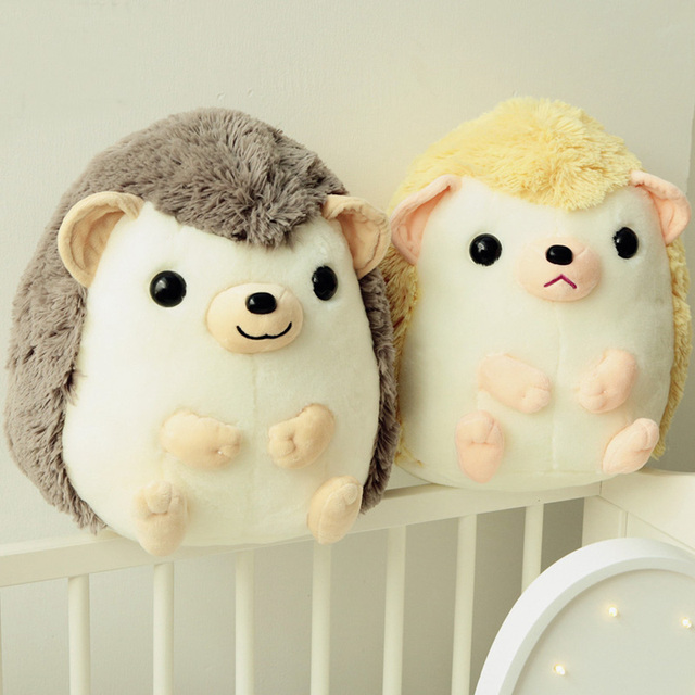 2 Colors Cute Stuffed Fat Hedgehog Kawaii Stuffed Animal For Girl