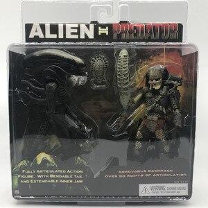 Chegada nova pacote original conjunto 2 pacote avp alien vs. Predator neca exclusivo figura de ação 2