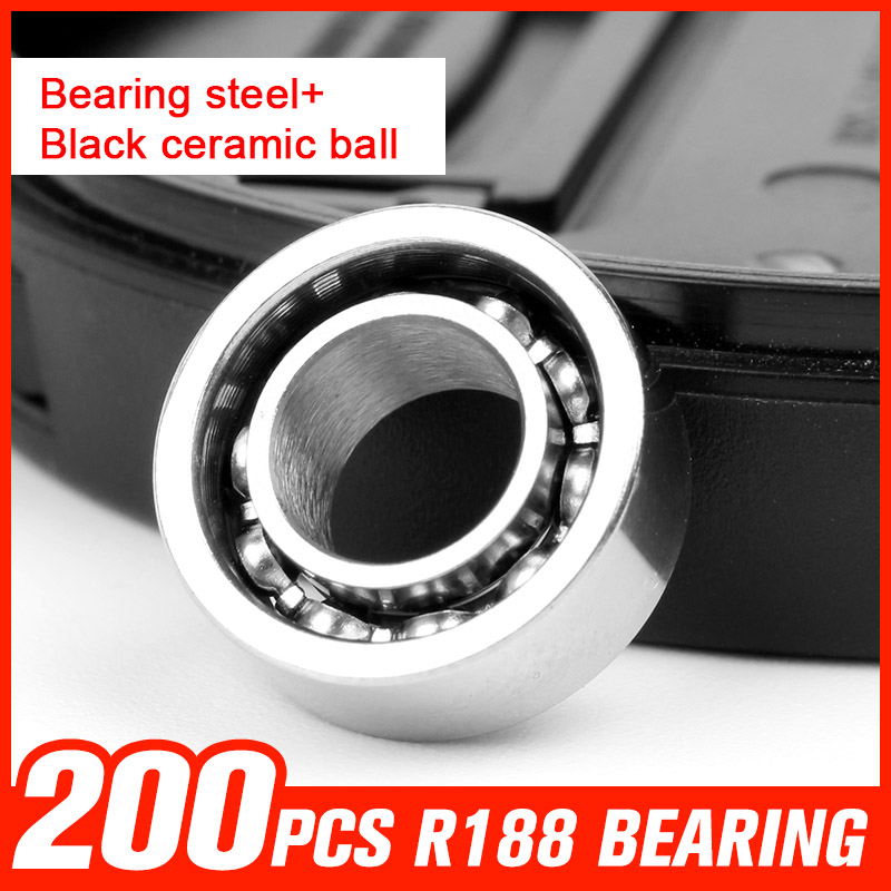 200pcs R188 Bearing Steel Ceramic Ball Bearings for High Speed Fingertip Spinner Skating Drift Toy Hardware Tool Accessories f1055zz diy steel ball bearings for model toy robot silver 2 pcs