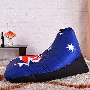 Image 5 - LEVMOON pouf canapé chaise australie drapeau siège Zac pouf couverture de lit sans remplissage sacs de pouf intérieur