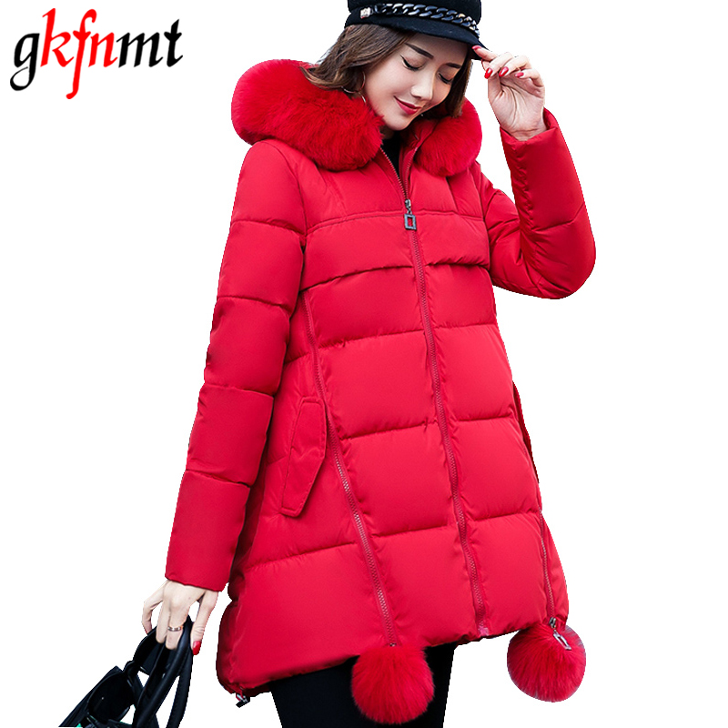 2017 Women's down Parkas Jacket Women Fur Parka Hooded Winter Coat For women Cotton Wadding Thicking Outwear Female Plus size m104gnx1r1 lcd displays screen