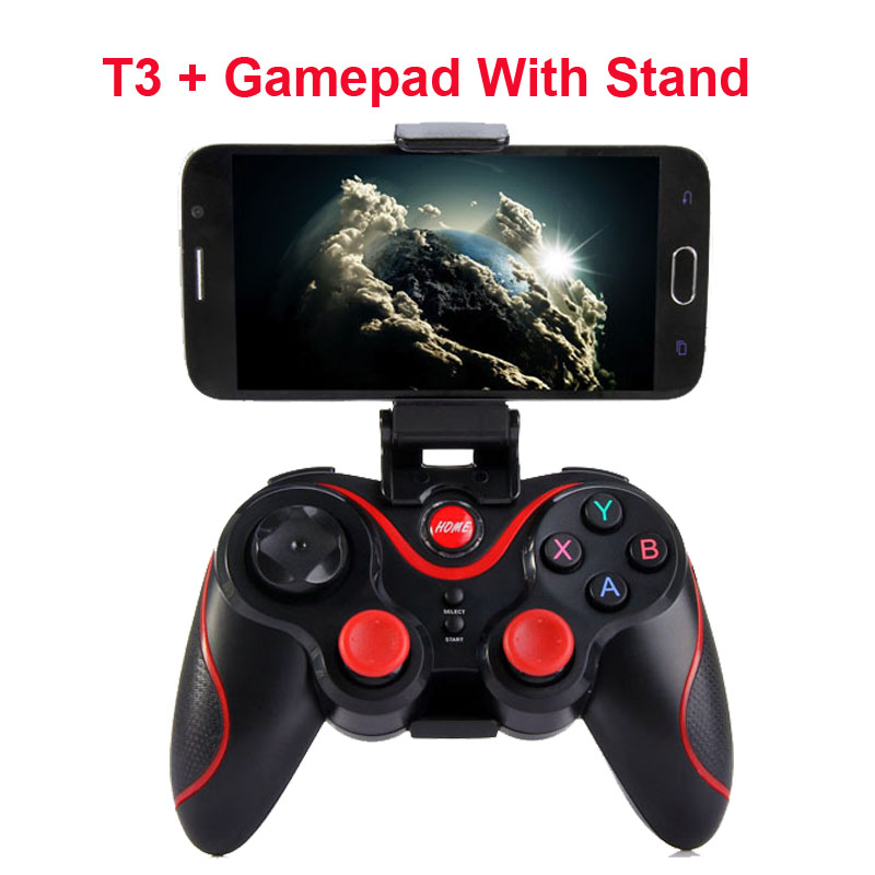 Wireless Joystick Bluetooth 3.0 T3 Gamepad Gaming Controller Gaming Remote Control for Tablet PC Android Smartphone With Holder