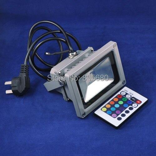 5 шт./лот 10 Вт rgb открытый прожекторы свет IP65 Светодиодный прожектор AC85-265V с вилкой 2 года гарантии