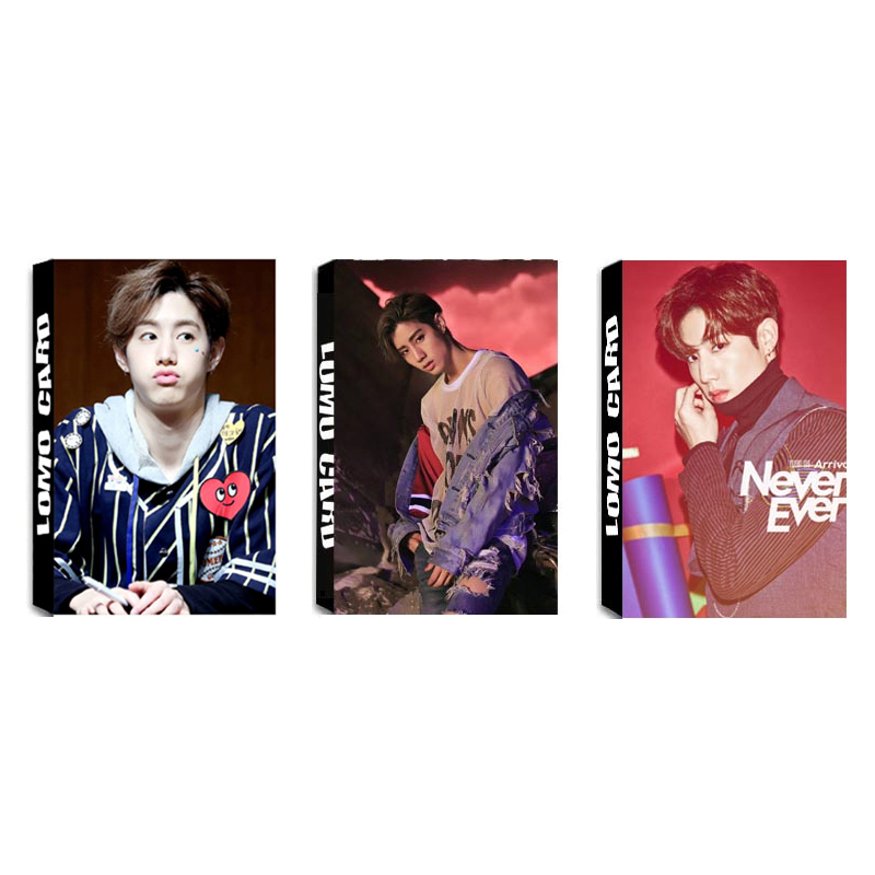 KPOP GOT7 Album MARK LOMO Cards K-POP New Fashion Self Made Paper Photo Card HD Photocard image
