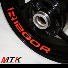 MTKRACING R1200R Seven colors  8X CUSTOM INNER RIM DECALS WHEEL Reflective STICKERS STRIPES FIT BMW R 1200R