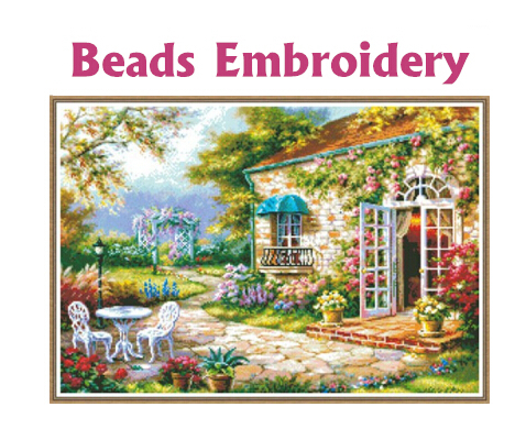 64cm*45cm Beads embroidery Accurate printed fields and gardens full beadwork crochet hook hobby manualidades knitting machine