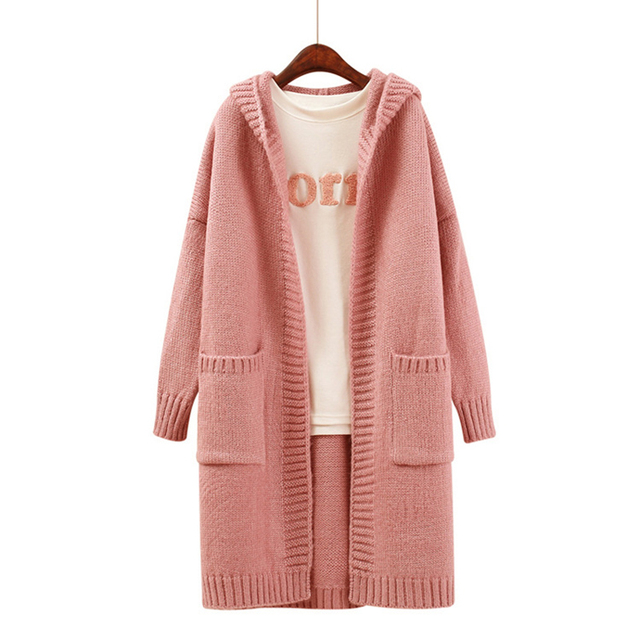 New 2017 Autumn Winter Long Knitted Cardigan Sweater for Women ...