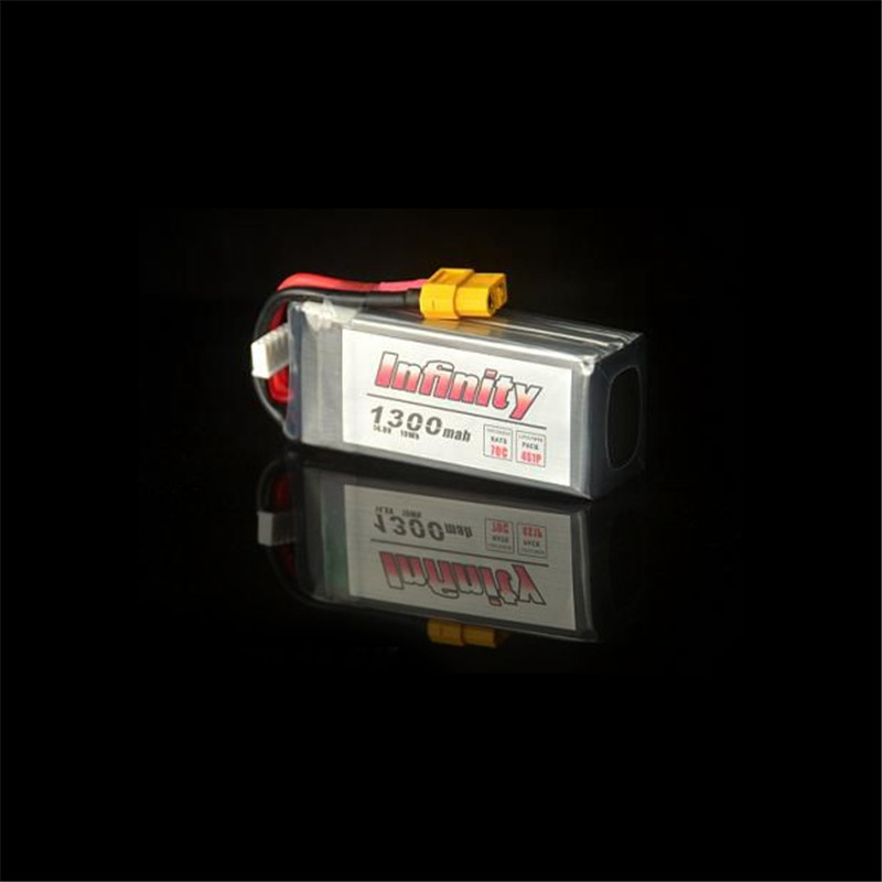 ФОТО In Stock Infinity 4S 14.8V 1300mAh 70C Graphene LiPo Battery XT60 Support 15C Boosting Charge RC Quadcopter