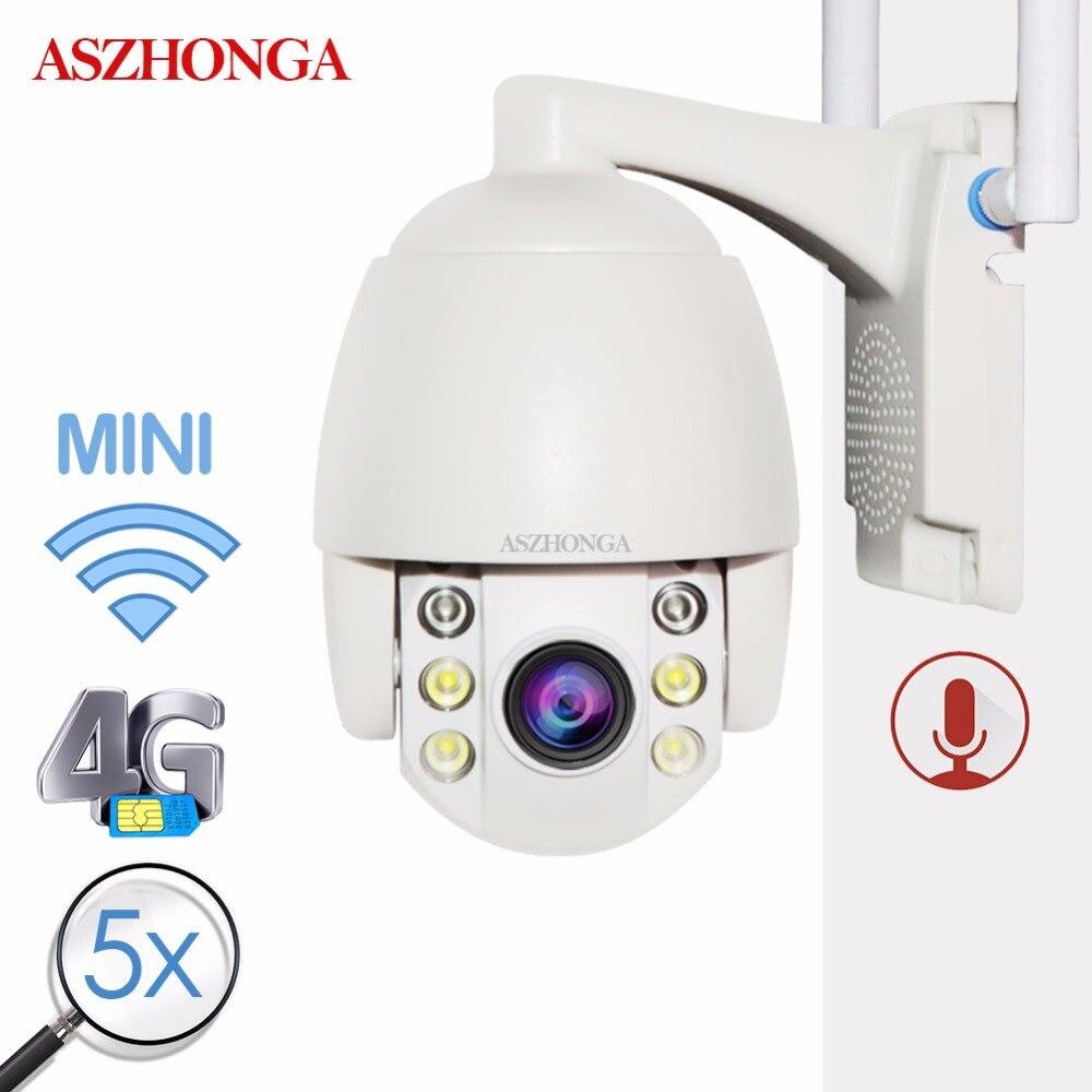 360 Mini Câmera IP 3G 4G SIM Card Sem Fio WI-FI PTZ 1080P IR Dome 5X Zoom CCTV câmera de Vigilância de segurança Ao Ar Livre À Prova D' Água