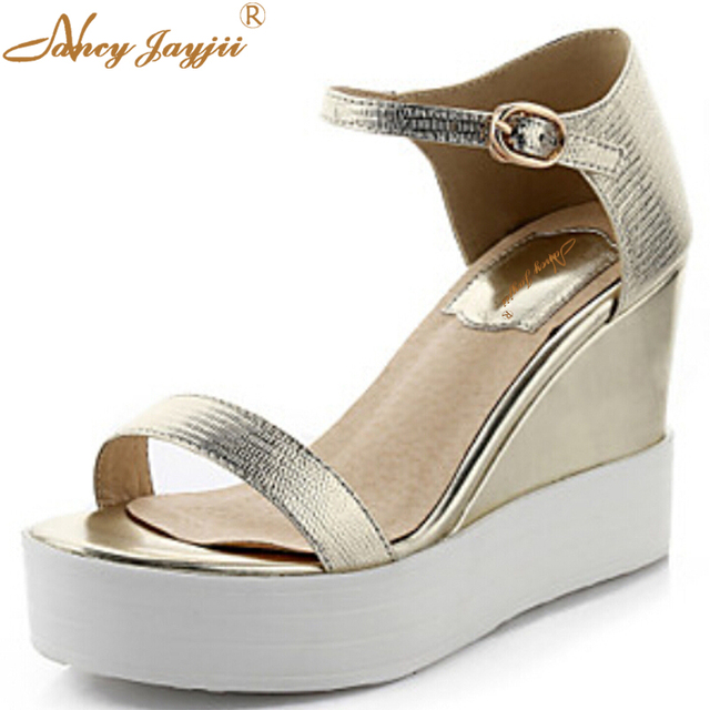 BC    Women's Shoes  Wedge Heel Heels Sandals Wedding/Party & Evening/Dress/Casual Yellow/Silver/Gold