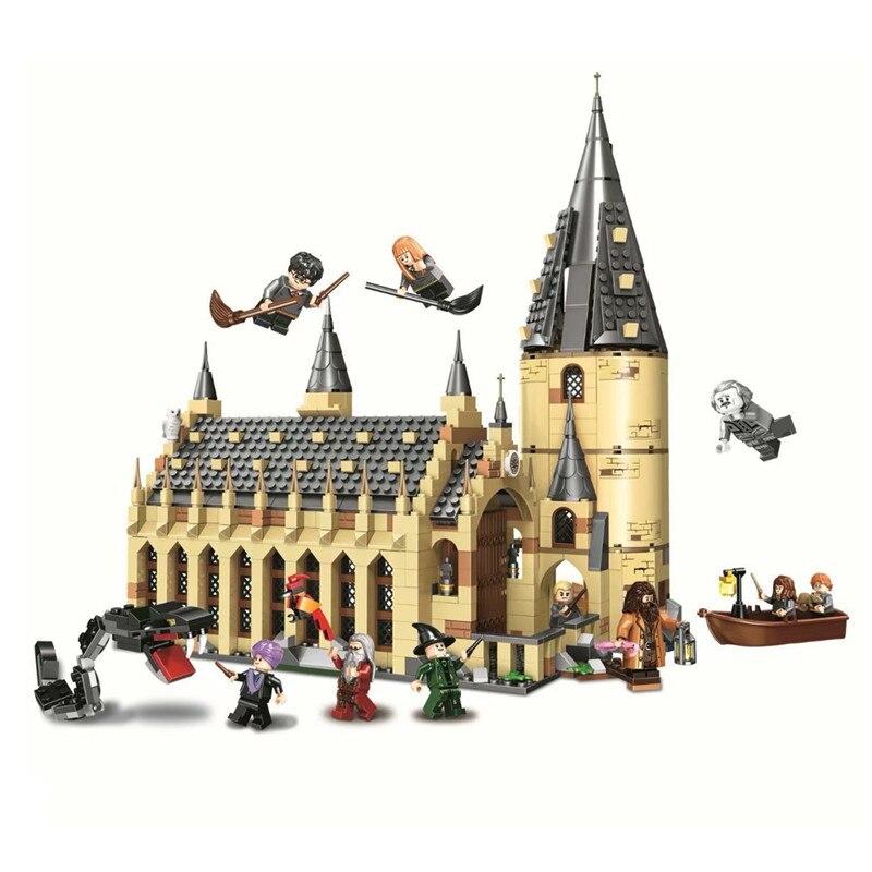 Harri Potter serie Hogwarts Großen Halle Express Bausteine Bricks DIY Spielzeug für kinder Geschenke Kompatibel legoINGly 75954