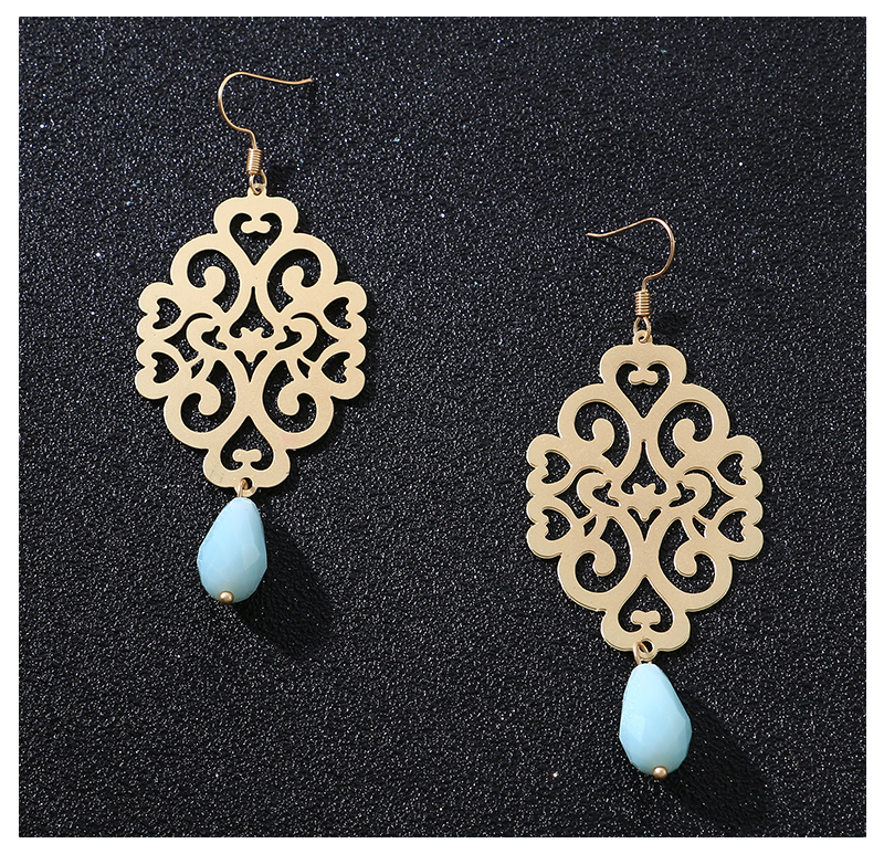 HTB14FUwseSSBuNjy0Flq6zBpVXaD - Badu Gold Drop Earring Copper Hollow Out Women Vintage Dangle Earrings Sky Blue Crystal Pendant Fashion Jewelry