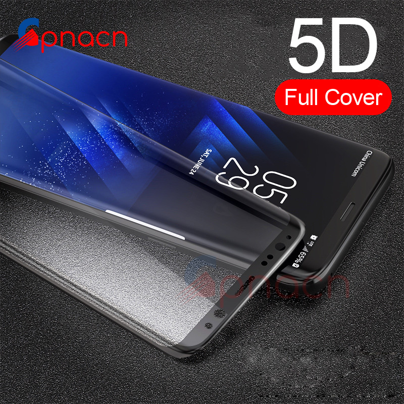 5D Curved Full Cover Tempered Glass For Samsung Galaxy S8 S9 Plus Screen Protector For Samsung Note 8 S7 Edge Protective Film
