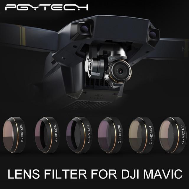 PGYTECH DJI MAVIC Pro Аксессуары Объектив Фильтры G-UV ND4 8 16 32 CPL УФ HD постепенное цвет Фильтр gimbal RC Quadcopter Drone части