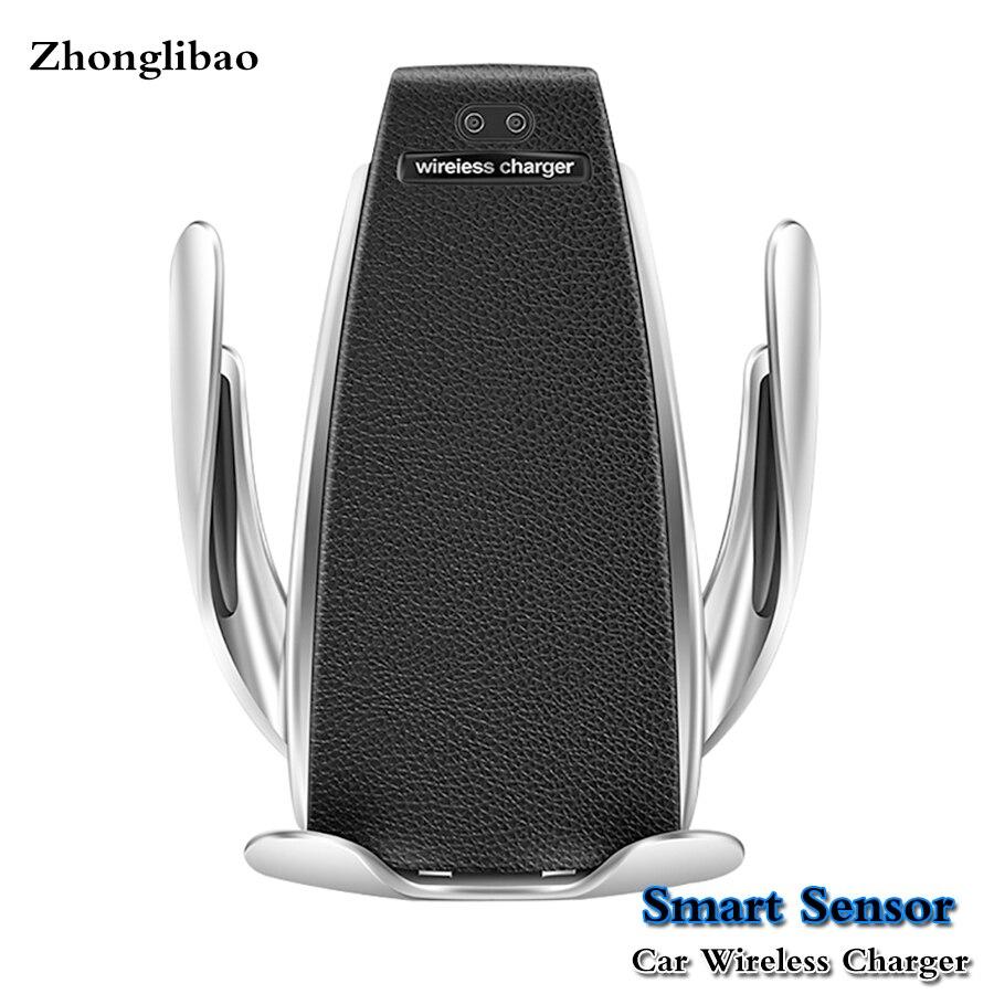 10 w Qi rapide sans fil chargeur de voiture support pour Samsung S10 S9 S8 S7 S6 Edge Plus capteur intelligent serrage automatique sans fil charge10 w Qi rapide sans fil chargeur de voiture support pour Samsung S10 S9 S8 S7 S6 Edge Plus capteur intelligent serrage automatique sans fil charge