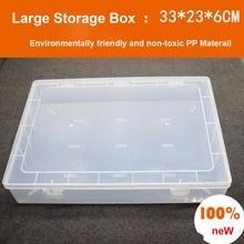 Большой A4 Прозрачный PP пустой ящик пластиковый ящик для хранения