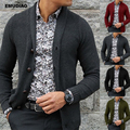 2019 outono inverno casual malha pull homme suéteres para homem sólido cardigan manga longa único breasted suéter masculino