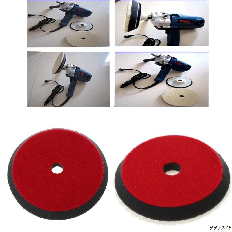 OOTDTY 6″ 150mm Car Auto Soft Wool Buffing Polishing Pad Professional Detailing Mixed Color