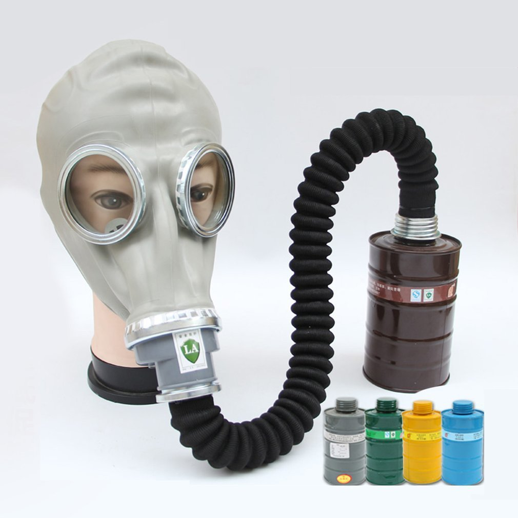 High quality 2 in 1 Respirator Gas Mask Fire Control Military Pesticides Gas Mask 6800 Gas Mask non-toxic Protective Mask high quality respirator gas mask provide silica gel gray protective mask paint pesticides industrial safety mask