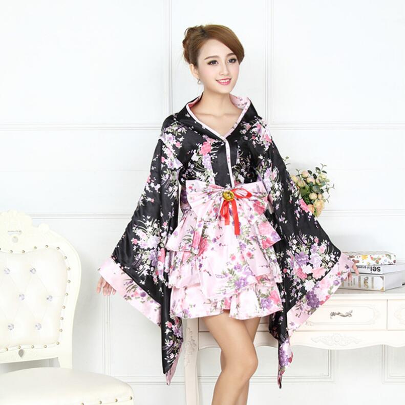 Japan Woman bathrobe Japan lady kimono Traditional kimono Stage performance dess cosplay tool