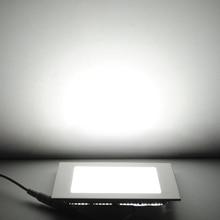 TSLEEN Ultra Thin Led Panel Downlight 3w 4w 6w 9w 12w 15w 18w 24w Square Ceiling Recessed SpotLight AC85-265V Panel lamp CE ROHS