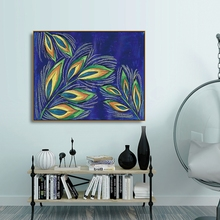 Laeacco Watercolor Graffiti Leaves Wall Art Abstract Posters and Prints Canvas Painting Nordic Home Decoration Living Room Decor