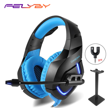 HOT! 4 kinds Professional Noise Canceling Studio Wired Gaming Earphone Headphone for Computer & Headset with Microphone for PS4