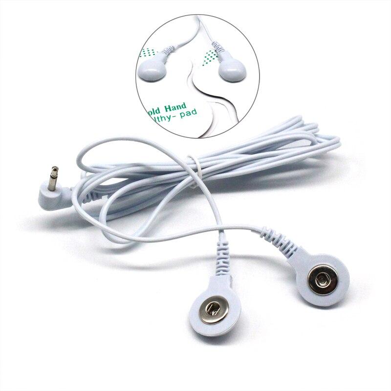 2,5mm 2 Möglichkeiten Elektroden Kabel Stecker Elektrode Blei Drähte Anschluss Kabel Mit 2 Tasten Für Digitale Zehntherapie Maschine massagegerät
