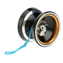 2 Colors Yoyo Popular Kids Toys Professional Magic Yoyo M001 Aluminum Alloy Yo-yo CNC lathe T Bearing with Spinning String(China)