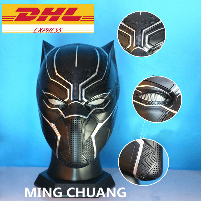 Action & Toy Figures Dedicated Avengers Infinity War Statue Superhero Bust Black Panther Tchalla Helmet 1:1 Head Portrait Abs Action Figure Toy Box 20cm J493