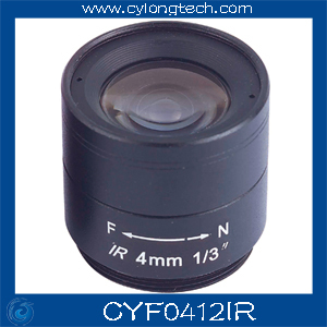 1/3 Inch CS Mount F1.2 4MM Fixed IR CCTV Camera  Lens . free shipping 8mm 12mm 16mm cctv ir cs metal lens for cctv video cameras support cs mount 1 3 format f1 2 fixed iris manual focus