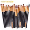 20 pcs Makeup Brushes Set Ouro Compo Escovas Macias Animais ou Cabelo Sintético Para A Beleza