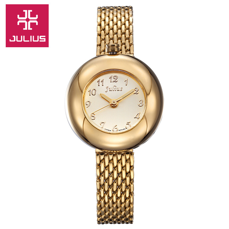 New Julius Lady Woman Wrist Watch Fashion Hours Dress Bracelet Cute Steel Lovely Business Girl Birthday