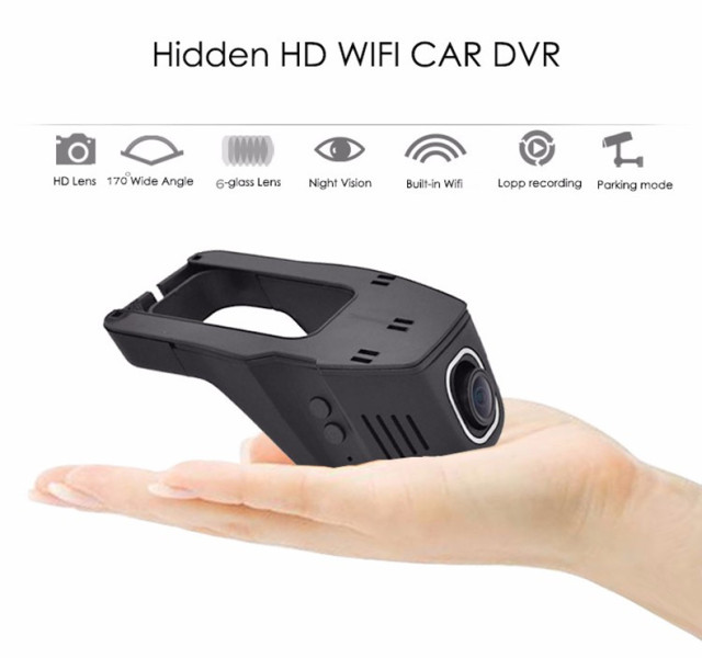 Hidden Super FHD 1080P WIFI Car Camera
