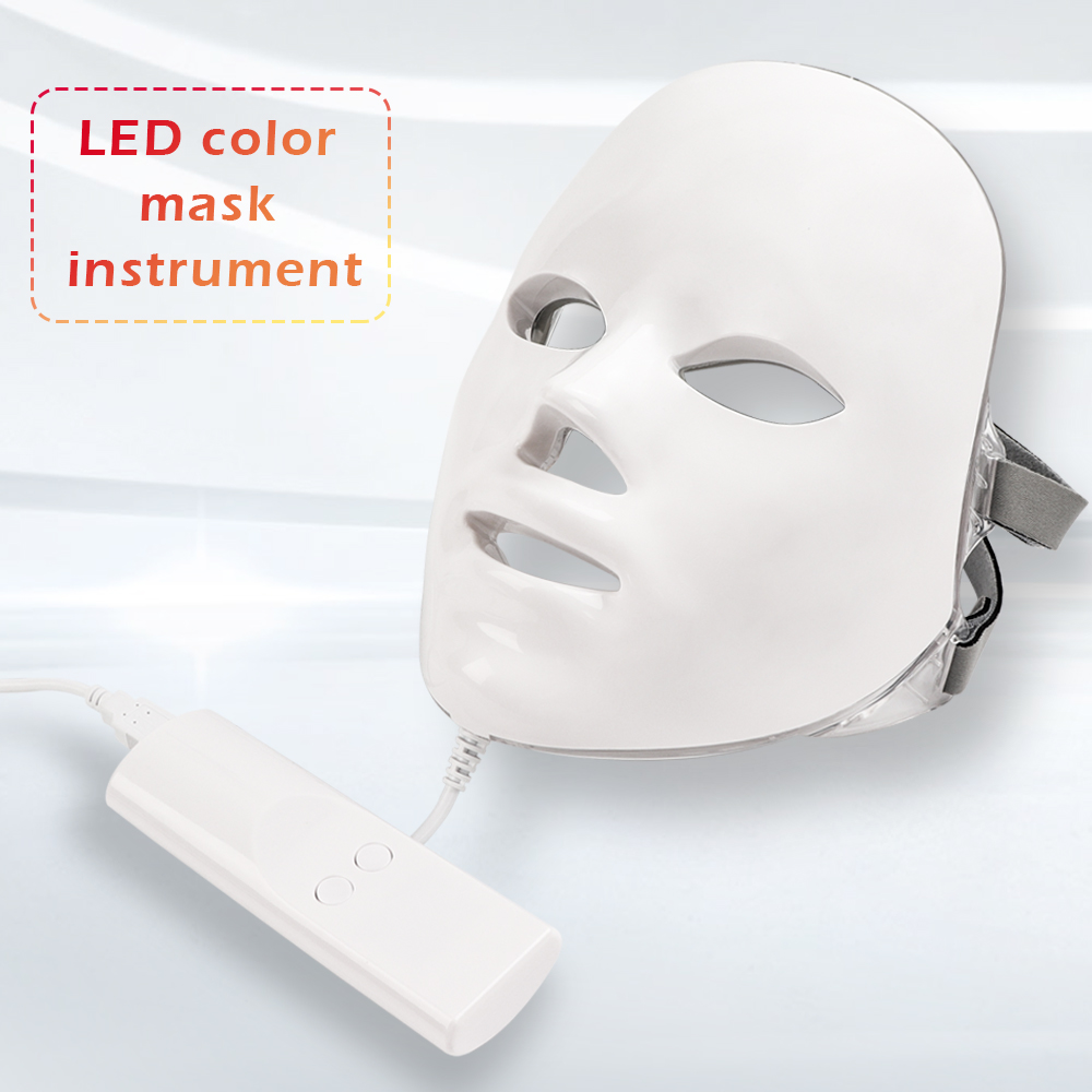 7 Colors Led Facial Mask Led Korean Photon Therapy Face Mask Machine Light Therapy Acne Mask
