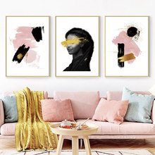 Abstract Wall Art Canvas Painting Woman Oil Canvas Painting Living Room Modern Hanging Nordic Poster Abstract Picture Unframed цена
